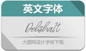Delisha-Italic(英文字体)