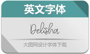 Delisha(英文字体)