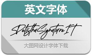 DelisthaSignature-Italic(英文字体)