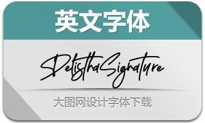 DelisthaSignature(英文字体)