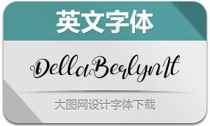 DellaBerlyn-Italic(英文字体)