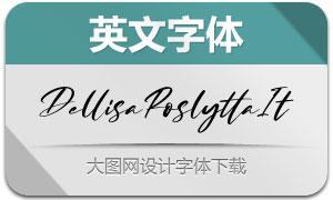 DellisaRoslytta-Italic(英文字体)