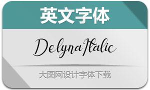 Delyna-Italic(英文字体)