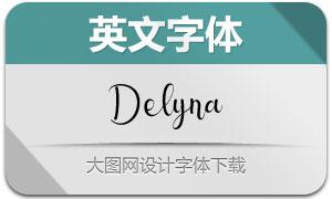 Delyna(英文字体)