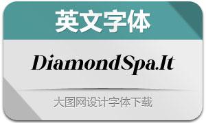 DiamondSparkling-Italic(英文字体)