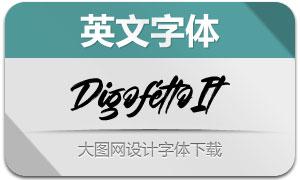 Digofetto-Italic(英文字体)