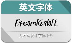 DreamKoala-Italic(英文字体)