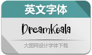 DreamKoala(英文字体)