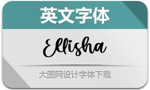 Ellisha(英文字体)