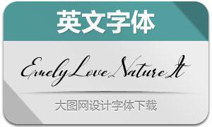 EmelyLoveNature-Italic(英文字体)