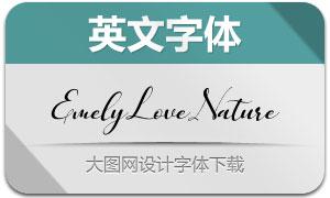 EmelyLoveNature(英文字体)