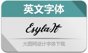 Esyla-Italic(英文字体)
