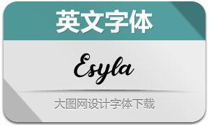 Esyla(英文字体)
