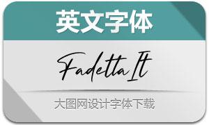 Fadetta-Italic(英文字体)