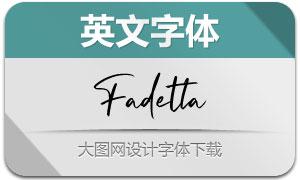 Fadetta(英文字体)