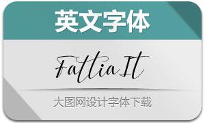 Fattia-Italic(英文字体)