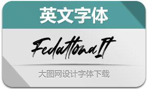 Fedattona-Italic(英文字体)