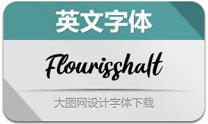 Flourissha-Italic(英文字体)