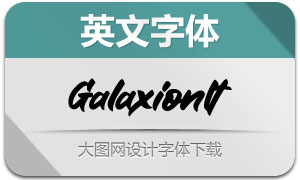 Galaxion-Italic(英文字体)