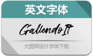 Gallendo-Italic(英文字体)