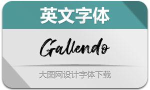 Gallendo(英文字体)