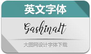Gashina-Italic(英文字体)