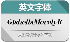 GishellaMorely-Italic(英文字体)