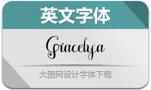 Gracelya(英文字体)