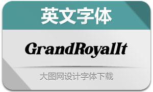 GrandRoyal-Italic(英文字体)