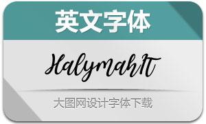 Halymah-Italic(英文字体)