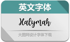 Halymah(英文字体)