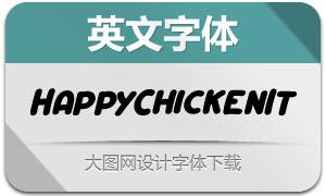 HappyChicken-Italic(英文字体)