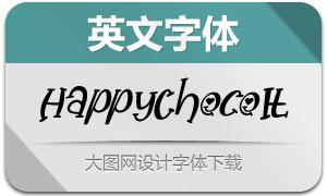 HappyChoco-Italic(英文字体)