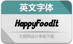 HappyFood-Italic(英文字体)