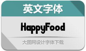 HappyFood(英文字体)