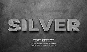 图案纹理装饰银色金属字设计源文件