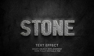 混凝土岩石材质立体字设计模板素材