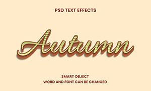 横向条纹装饰立体字模板设计源文件