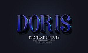 光效质感深蓝色立体字设计模板素材