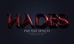 红黑色彩层叠样式立体字模板源文件
