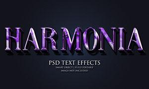 紫色光效纹理装饰立体文字模板素材