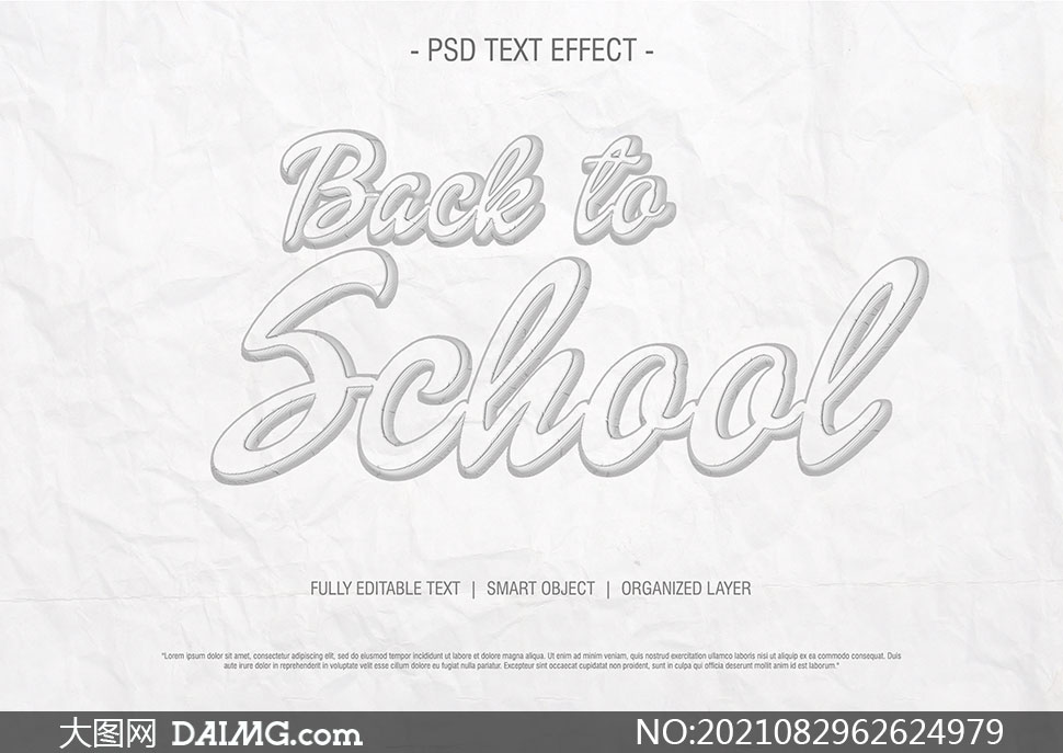 灰白色立体描边样式文字设计源文件