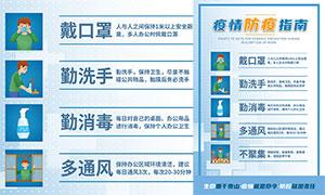 疫情防疫指南宣传单设计模板PSD素材