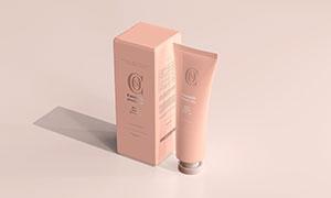 光影环境渲染护肤产品包装样机模板