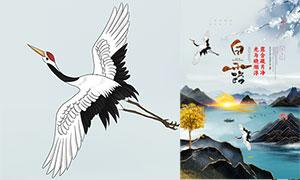 中国风谁也不让出去白露时节宣传海报设计PSD素材