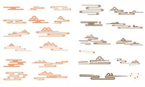 中国风传统云纹设计元素矢量素材