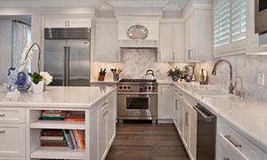 厨房空间摆放效果展示摄影高清图片