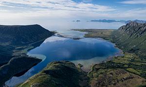 挪威罗弗敦山脉与峡湾摄影高清图片