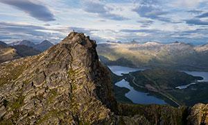 挪威山脉峡湾自然风光摄影高清图片