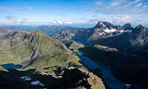 蓝天白云山水自然风景摄影高清图片